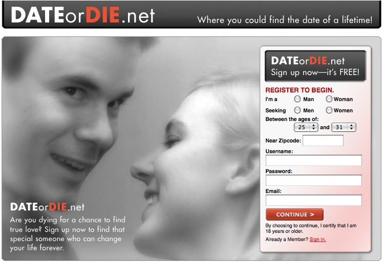 Vampier dating site
